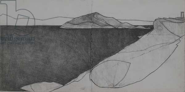Cape Sounion 1, 2009 (pencil on paper)