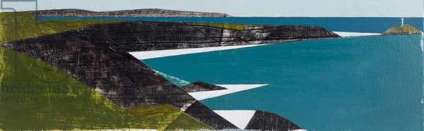 Godrevy Point 8 acrylic on board 9 x 27 cm