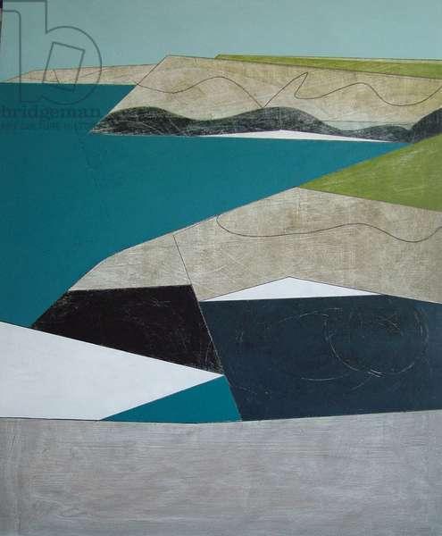 Path Line 2, 2008 (acrylic on board)