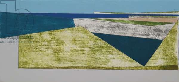 Cliff Border 1, 2009 (acrylic on plywood)