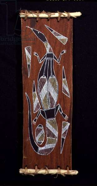 Lizard (painted bark)