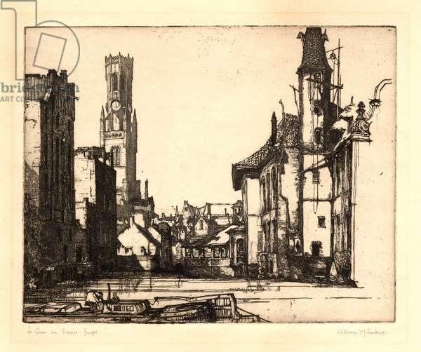 Le Quai de Rosaire, Bruges (engraving)