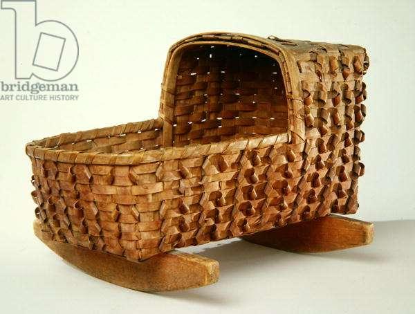 Doll Cradle, c.1900 (wood)