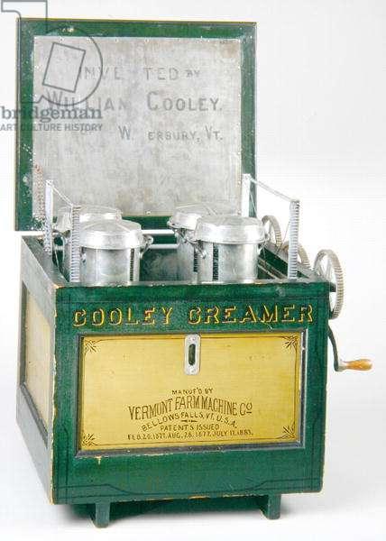 Cooley Creamer, c.1890 (painted wood & metal)