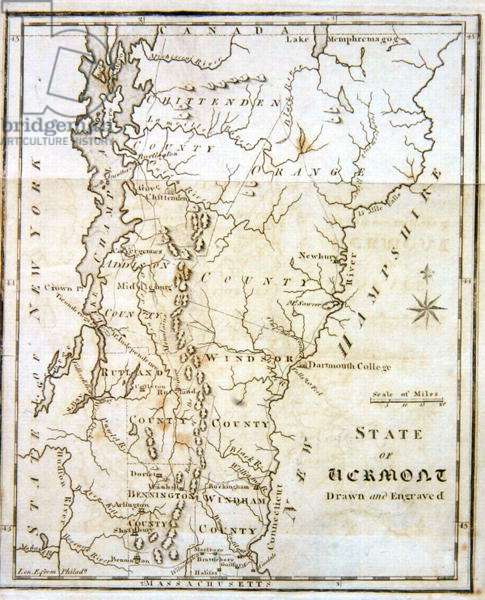Map of the State of Vermont, 1795 (litho)