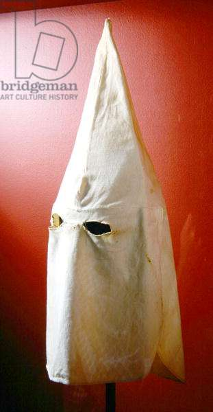 Ku Klux Klan hood, c.1925 (cotton)