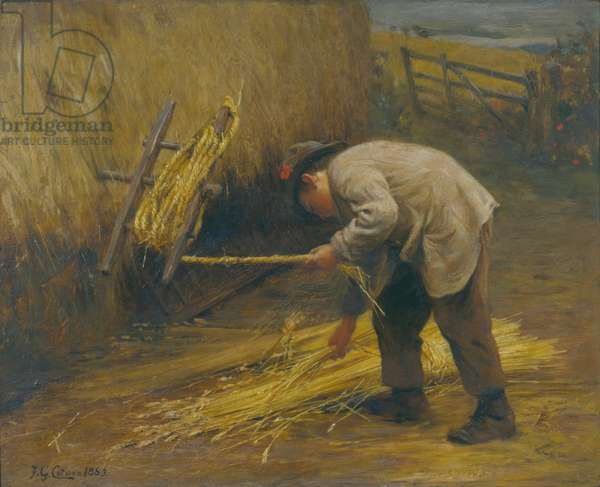 Spinning Thatch Bands, 1883 (oil on canvas)