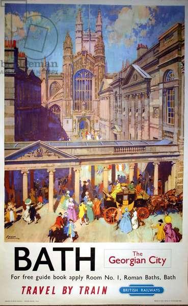 Bath, The Georgian City, 1954 (colour litho)