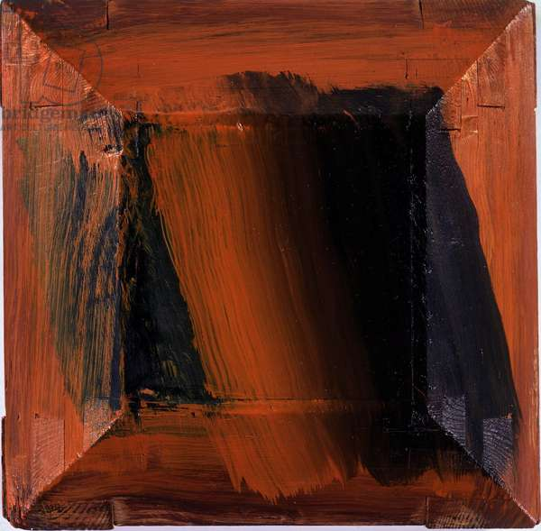 Silence, 1997 (oil on board & wood)