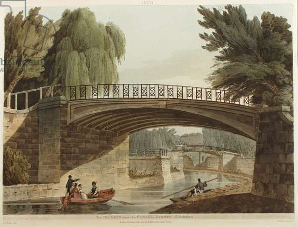 Bridge over the Canal in Sydney Gardens, 1805 (pen & ink with w/c on paper)