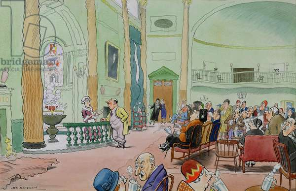 'The man who asked for a double scotch in the Grand Pump Room at Bath', 1931 (w/c and wash on paper)