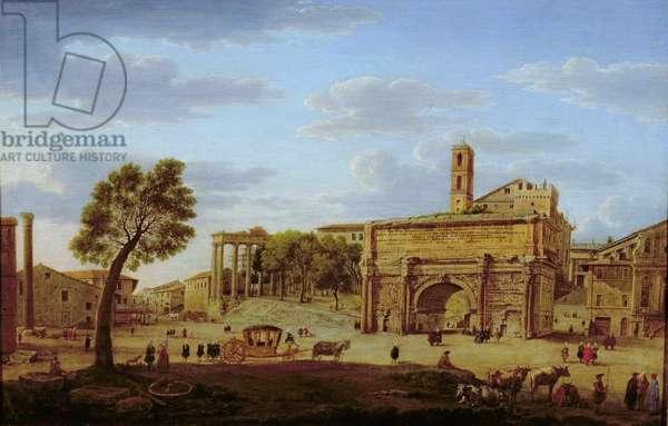 Hadrian's Arch, Rome (oil on canvas)