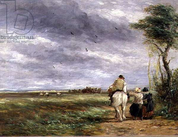 Going to the Hayfield, 1852 (oil on board)