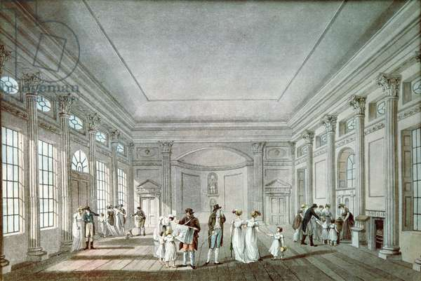 The Pump Room, Bath (aquatint)