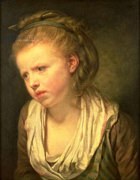 Anxiety or Head of a Young Girl (oil on canvas)