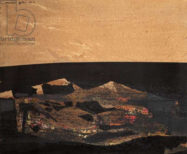 Dark Landscape, 1962 (mixed media)