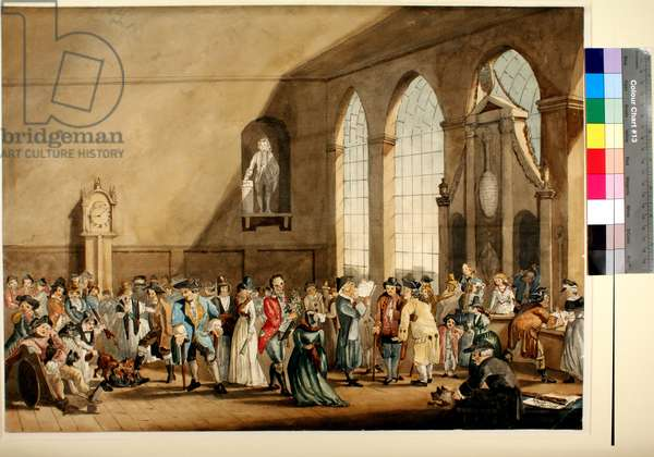 Interior of the Pump Room, 1792 (pen & ink with w/c on paper)