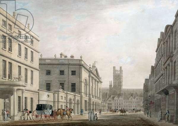 The High Street, Bath, 1777 (w/c on paper)