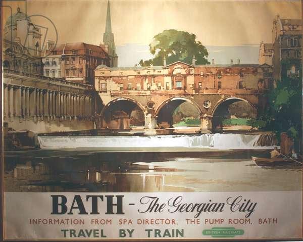 Bath, the Georgian City, 1950 (colour litho)
