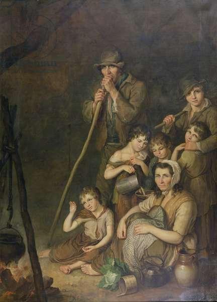 Irish Emigrants (oil on canvas)