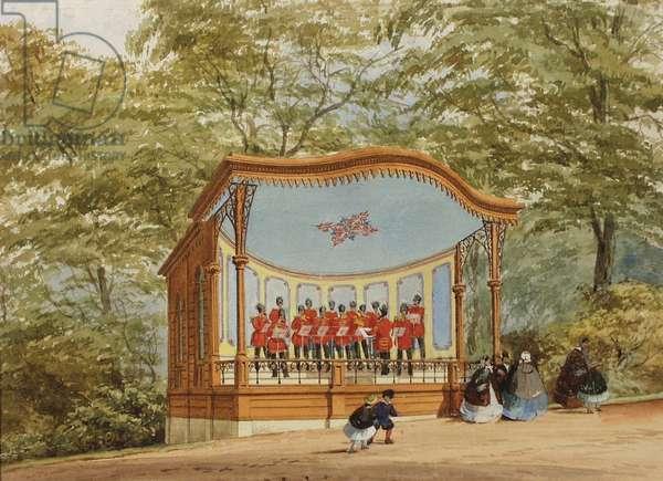Band Stand, Sydney Gardens, Bath (w/c pn paper)
