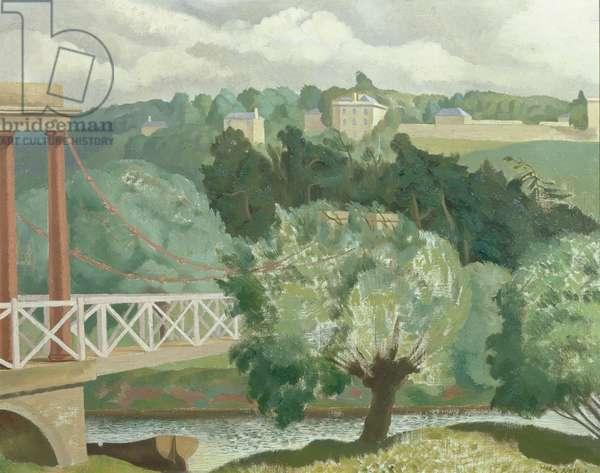 The Suspension Bridge, Bath, c.1940 (oil on canvas)