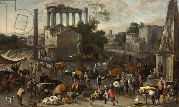 Campo Vaccino, 1643 (oil on canvas)
