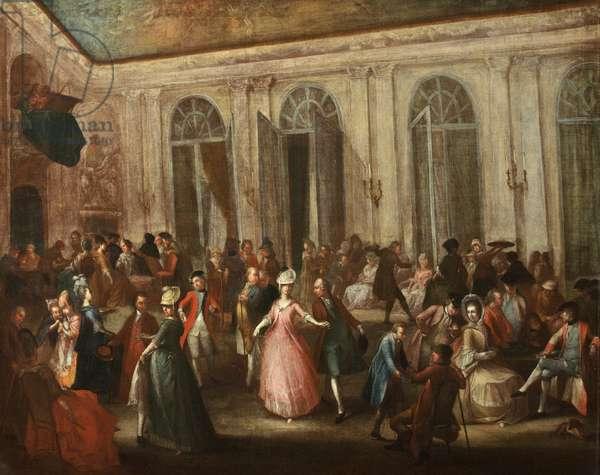 The Pump Room, Bath (oil on canvas)