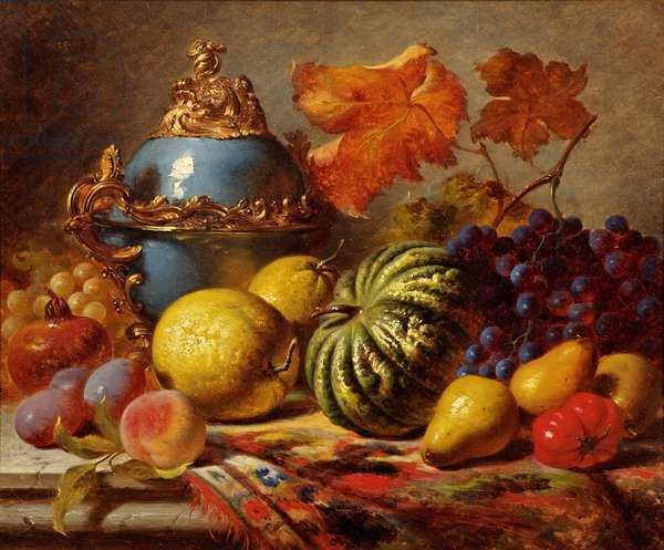 Still Life Fruit, c.1854 (oil on canvas)