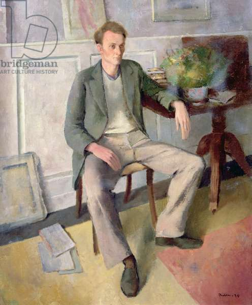 Portrait of Stephen Spender (1909-95) 1939 (oil on canvas)