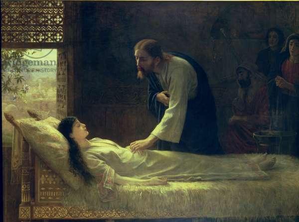 The Raising of Jairus's Daughter, 1889 (oil on canvas)