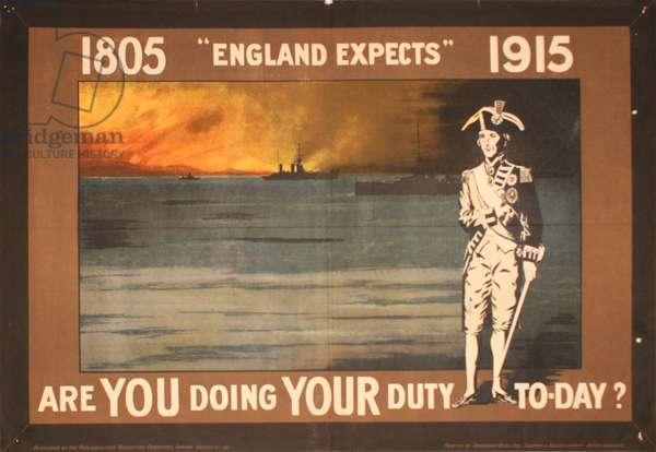 1805 England Expects 1915, 1914-18 (colour litho)
