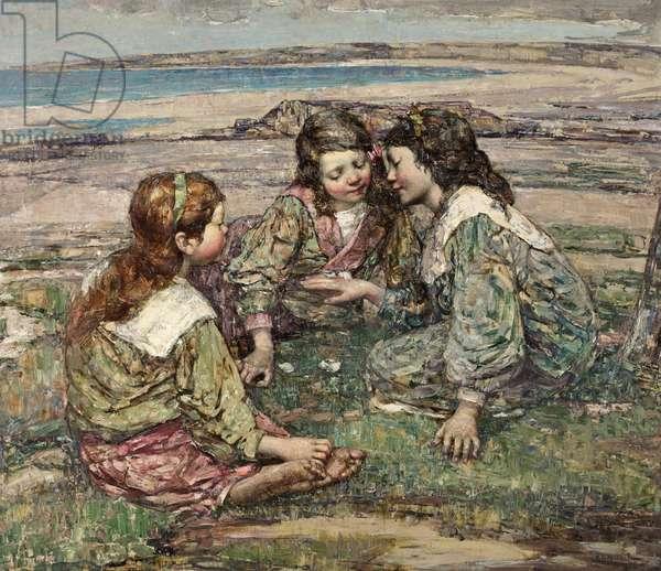 Playmates, 1908 (oil on canvas)
