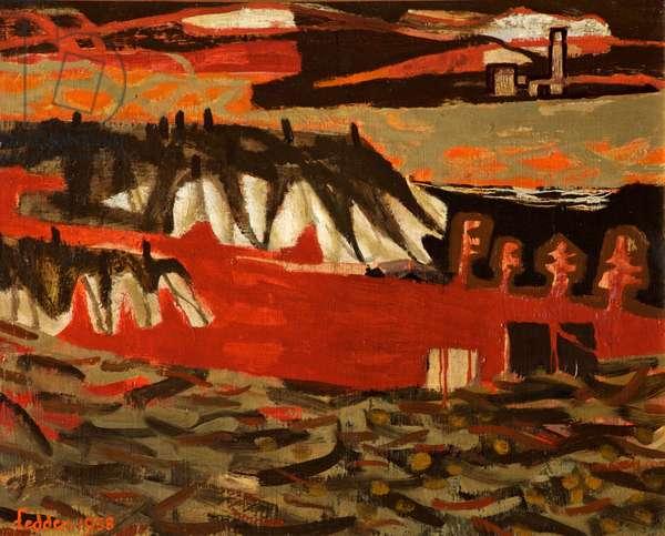 Near Albi, 1958 (oil on canvas)