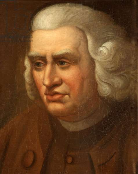 Samuel Johnson L.L.D., 1761 (oil on canvas on panel)