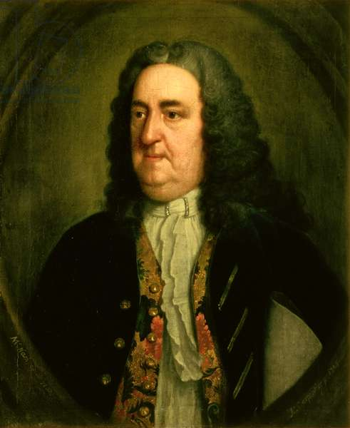 Portrait of Richard 'Beau' Nash (1674-1761) English gamester and social arbiter (oil on canvas)