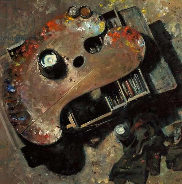 Palette, 2001 (oil on canvas)