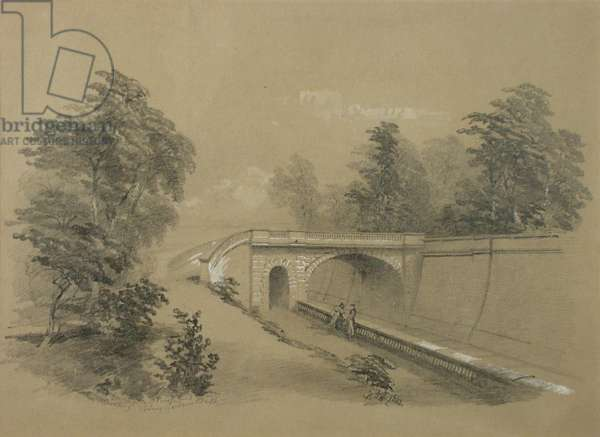 Sydney Gardens, Bath I, 1861 (wash with white heightening on paper)