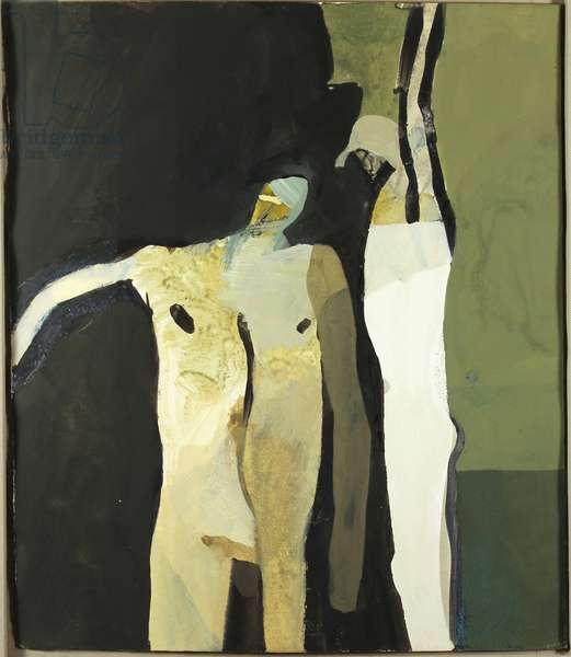 Figures, c.1960s (gouache on paper)