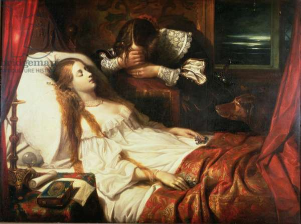 The Bride in Death, 1839 (oil on canvas)