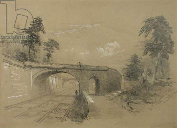 Sydney Gardens, Bath II, 1861 (wash with white heightening on paper)