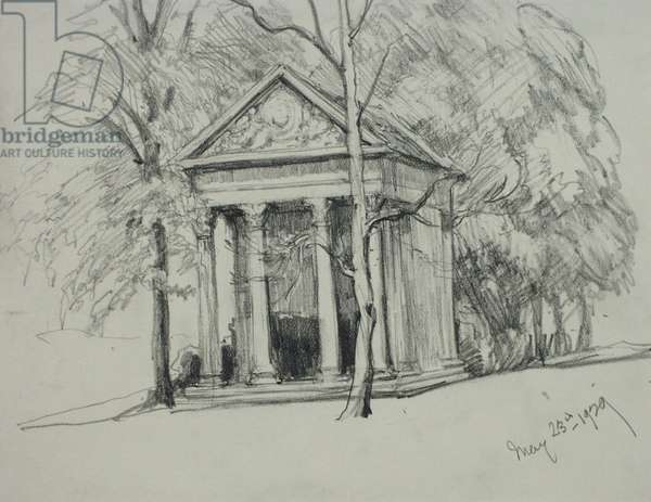 Minerva's Temple, Sydney Gardens, May 23rd 1929 (pencil on paper)