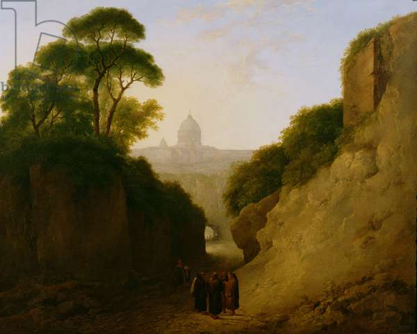 A Distant View of Rome, 1793 (oil on canvas)