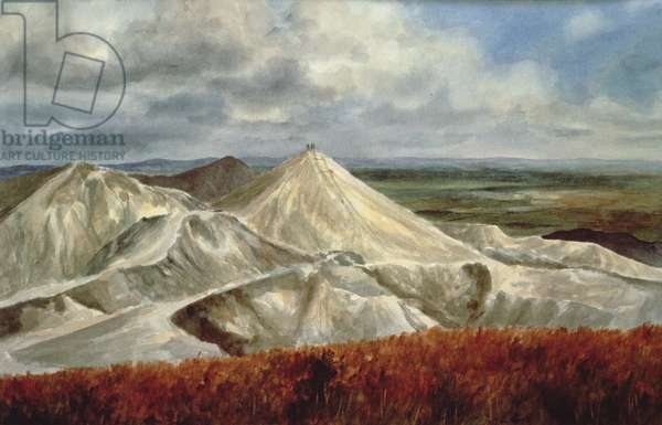 Cornish Landscape - China Clay quarries at St. Austell