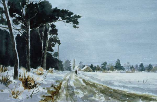 Hermitage Road in the Snow (Village of Higham, near Rochester)