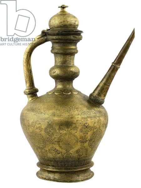 islamic art-ewer-copper alloy engraved and inlaid with silver-inv.n.15091-Ayyubid 13th century-MIA - 29 11 10 030