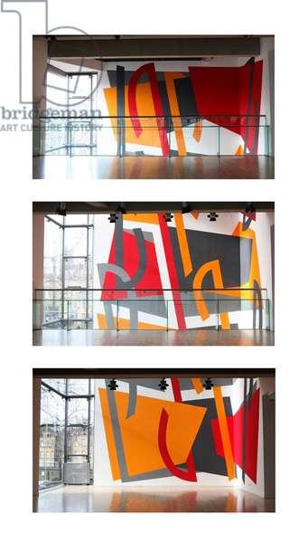 Vertigo in Three Parts, wall painting at Sadler's Wells Theatre, 2008 (photo)