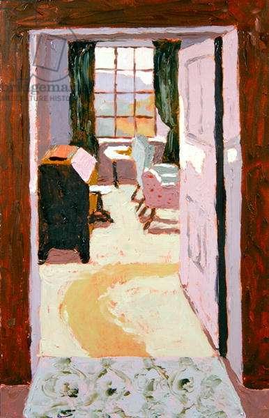 Strathraich Sitting Room (oil on board)