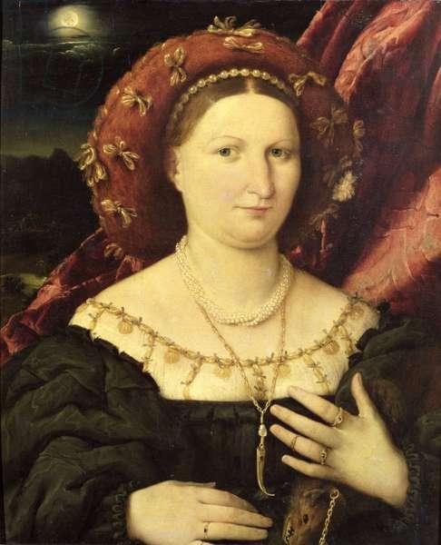 Portrait of Lucina Brembati, c.1523 (oil on canvas)