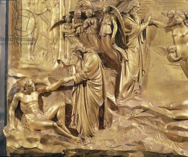 Creation of Man, Doors of Paradise, 1425-52 (gilded bronze)